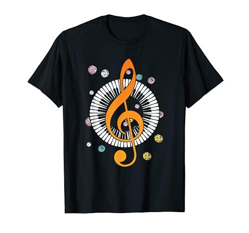 Piano Pianista Teclado Sintetizador Reproductor Notas Regalo Camiseta