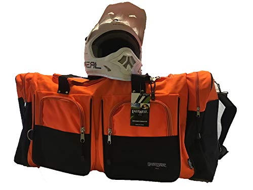 CafeRace Orange Large 35-inch Gear Bag for Motocross-Enduro-Snowmobile-Paintball