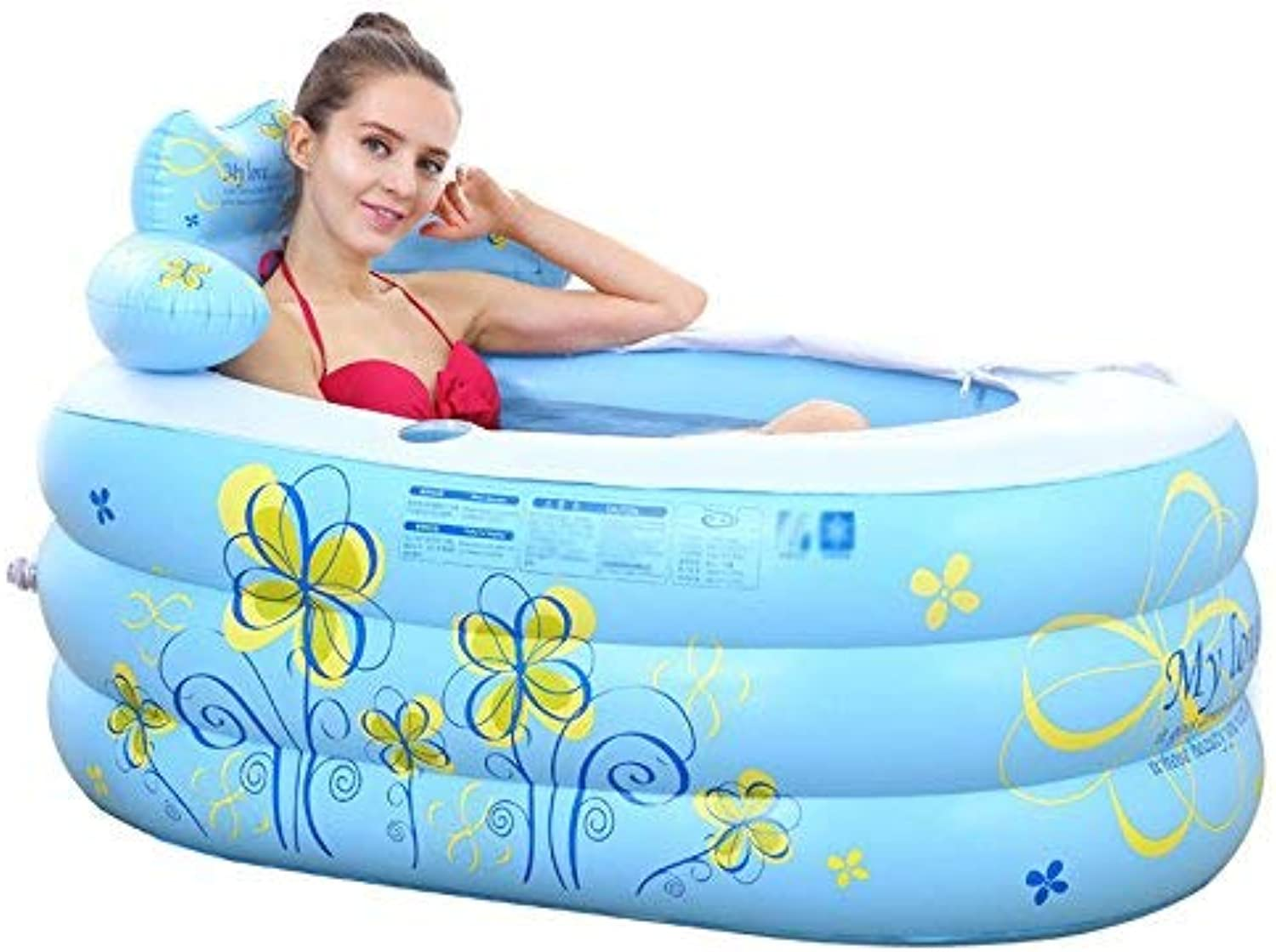 BAIF Inflatable bath and inflatable dipping bath (color  bluee)