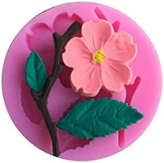 3D Silicone Mold Peach Blossom Cake Decorating Tool Chocolate Candy Jello Baking moldes de silicona para