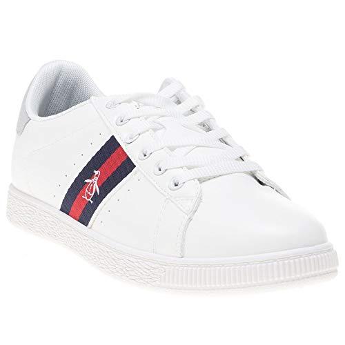 Penguin Mens Plane Sneakers White 9