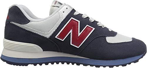 New Balance 574 Core Plus, Zapatillas para Hombre, Azul (Navy/Red), 40 EU (Talla Fabricante: 6.5 UK)