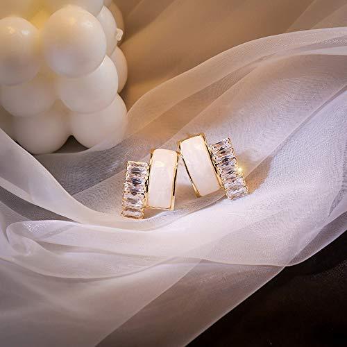 feilai Stud Earrings Fashion Unique Zircon Stud Earrings for Women 2020 Simple Stone Statement Geometry Earrings Party Jewelry INS