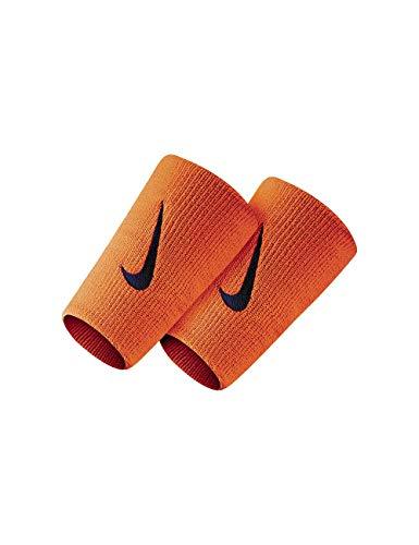 Nike Coppia Polsini Tennis Lunghi Swoosh Double Wide più Colori Federer Nadal (Orange Fluo - Black)