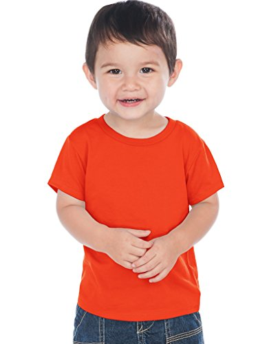 Kavio! Unisex Infants Crew Neck Short Sleeve Tee (Same IJC0432) Varsity Orange 24M