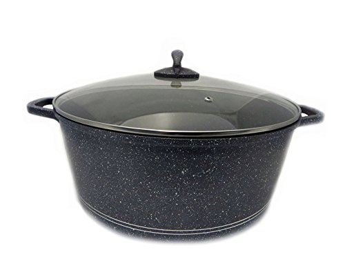 Rukauf HQ Premium XXXXL - Pentola con rivestimento in ceramica, 20 litri, diametro 44 cm, motivo casano/kazano