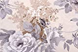HomeLife Copriletto Trapuntato Matrimoniale Primaverile/Estivo [250X250] Made in Italy | Trapunta Matrimoniale per Letto a 2 Piazze | Piumino Leggero Colorato Fantasia Floreale| [2P; Grigio]