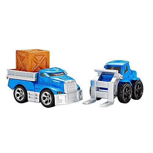Fisher-Price EZ Play Railway Loading Dock Vehicle Set (Flatbed and Forklift vehicles)