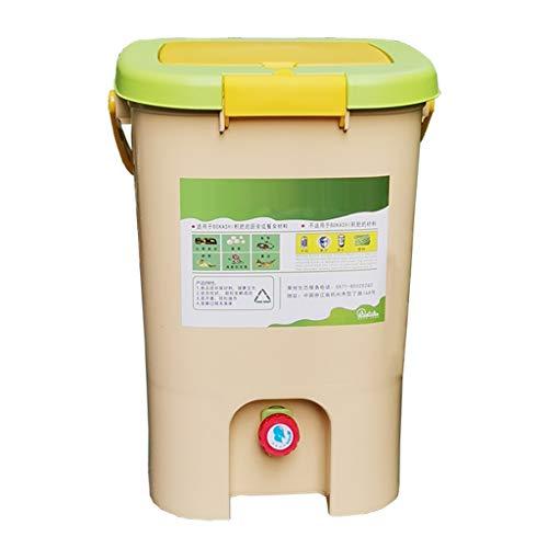 YICO Compostador de Interior Recolector de Residuos Cesto de Basura - Fácilmente Compostaje en Interiores, Bajo Olor, Apto para Principiantes, 9 litros / 21 litros