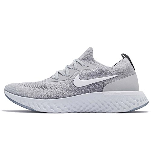 Nike Epic React Flyknit (GS), Scarpe Running Uomo, Multicolore (Wolf Grey/White-Cool Grey-Pure Platinum 002), 36.5 EU