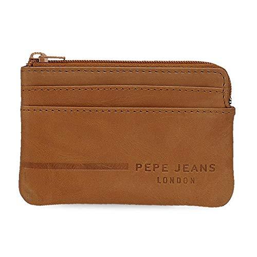 Pepe Jeans Ander Monedero Marrón 11x7x1,5 cms Piel
