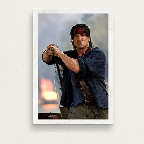 zxddzl Klassische Film Stallone Rambo Kunst malerei Poster Wand Dekoration 11 42 * 60