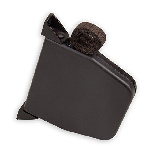 DIWARO® Mini Aufschraub-Gurtwickler | Lochabstand 145 mm | schwenkbar | mit 5 m Gurt | braun