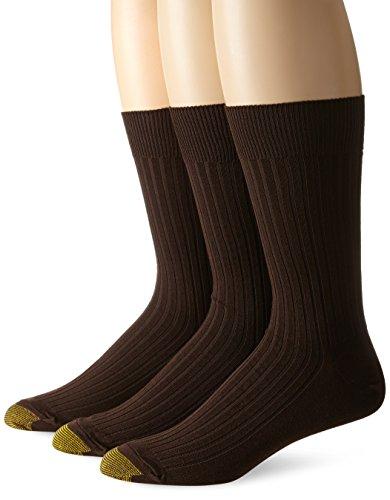 Gold Toe Canterbury Herren-Socken, groß & hoch - Braun - Large