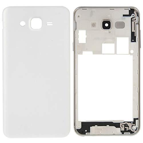 Reemplazo extraíble Reemplazo IPartsBuy completa tapa de la carcasa (carcasa intermedia Bazel + batería cubierta trasera) for Samsung Galaxy J7 accesorios (Color : White)