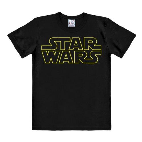 Logoshirt T-Shirt Guerre Stellari Logo - Maglia Star Wars Logo - Spazio - Maglietta Girocollo Nero - Design Originale Concesso su Licenza, Taglia M