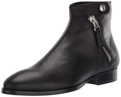 Aquatalia Women's Rose Tumbled Calf Ankle Boot, Black, 6 M US