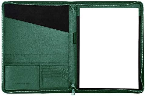 CARMEL CONCEPT Professional Padfolio in Vegan PU Leather A Slim Portfolio Folder with Zip Includes product image