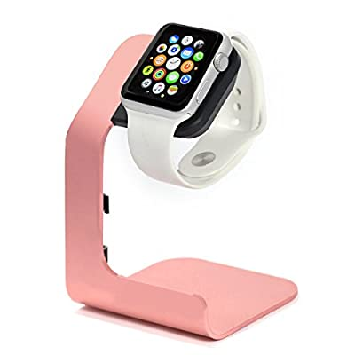 Apple Watch Stand-Tranesca Charging Stand Holder Dock for Apple Watch Series 5 / Series 4 / Series 3 / Series 2 / Series 1 (38mm / 40mm / 42mm / 44mm) - Pink Sand (Must Have Apple Watch Accessories) from Tranesca