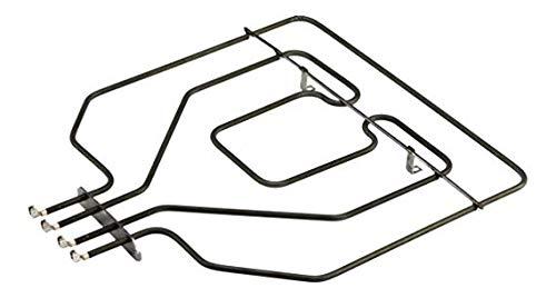 EVH-XTRA® Heizelement Backofen, Oberhitze, Backofenheizung, mit Grill, 2800W, passend für Bosch, Siemens, (Original EGO Teil Nr. 2035059000) wie Orig.- Nr. 00471375, 471375