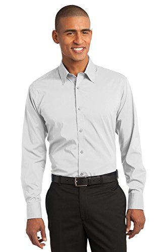 Port Authority® Stretch Poplin Shirt. S646 White L