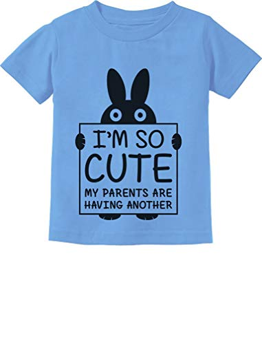 Camiseta infantil infantil I'm So Cute My Parents are Have Another Funny, California Blue, 6 Months