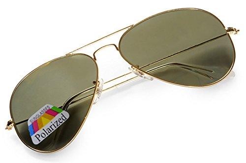 4sold - Gafas Sol - Hombre Schwarzes Gold Talla única