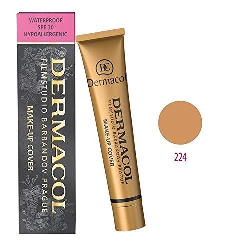 Dermacol Maquillage Couverture - Foundation HYPOALLERGÉNIQUE, Tous Les Types de Peau, (224)
