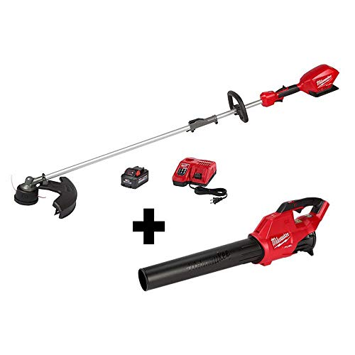 Milwaukee M18 FUEL 18-Volt Lithium-Ion Brushless Cordless String Trimmer Kit w/QUIK-LOK Attachment Capability & M18 FUEL Blower