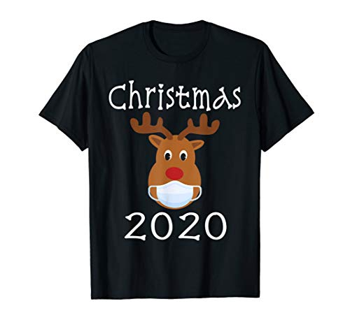 Matching Family Christmas 2020 Gifts Rudolph Reindeer Mask T-Shirt