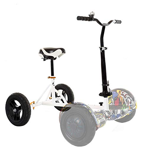 TGHY Hoverboard Seat Attachments Go-Kart Conversion Kit with Comfortable Seat Compatible with 6.5' 8' 10' Electric Self Balancing Scooter Fit for Adults to Kids,White