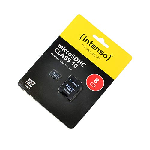 P4A Amplicomms PowerTel M9000, Speicherkarte, 8GB, microSDHC, Class 10, High Speed, SD Adapter