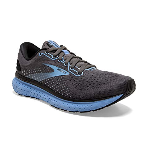 Brooks Womens Glycerin 18 Running Shoe - Black/Ebony/Cornflower - B - 8
