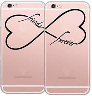 Set of 2pcs Deco Fairy iPhone 7 / 8 Flexible Silicone Case Cover - BFF Infinity Friendship Forever Infinity Trust