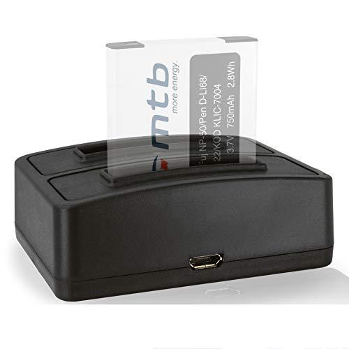 Cargador Doble (USB) para Fuji NP-50, NP-50A, NP50 / Kodak Klic-7004 / Pentax D-Li68, D-Li122 - Ver Lista de compatibilidad