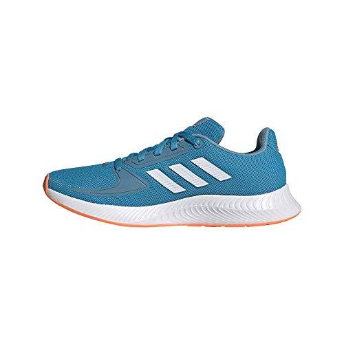 adidas Runfalcon 2.0 Running Shoe, Solar Blue/Cloud White/Hazy Blue, 39 1/3 EU