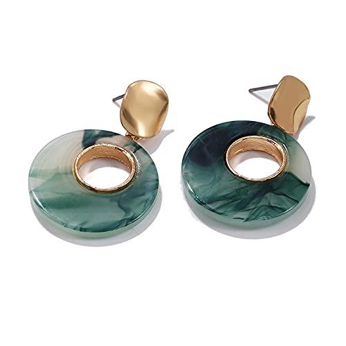 1 pieza de aretes de aro para mujer, diseño vintage de círculo, acrílico hueco