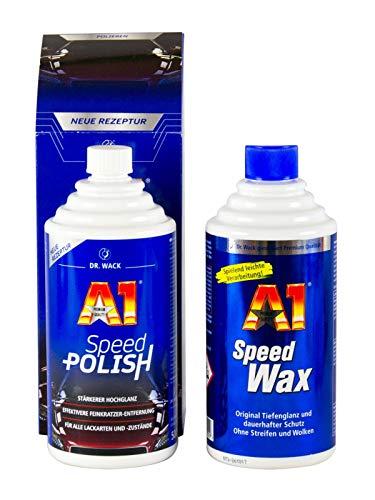 Preisvergleich Produktbild DR. WACK 1x A1 Speed Polish Auto Politur 500 ml & 1x Speed Wax Wachs 500 ml