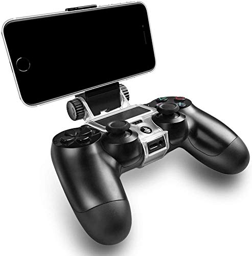 Black Mobile Phone Holder Clamp for PS4 Slim and PS4 Pro Controller, PS4 Controller Phone Remote Play Mount.