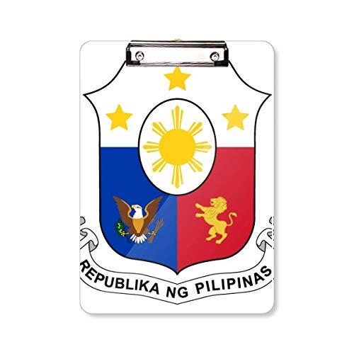 Filipijnen Azië Nationaal Embleem Klembord Folder Schrijven Pad Backing Plate A4