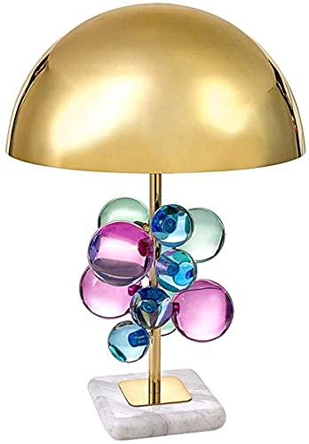 FHUA Lámpara Escritorio Lámpara de Sala de Estar de Gama Alta esférica de Cristal de Color Creativo Moderno lámpara de Cristal de Dormitorio 1 * (35 * 62 cm)