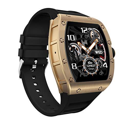 AYZE Reloj Deportivo Hombre Pantalla HD De 1.3', Batería De 200 mAh, Monitoreo del Sueño, Inserción De Información, Autofoto con Control Remoto, Función De Posicionamiento, Smart Watch Men GPS Gold