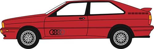 Oxford Diecast 76AQ001 Audi Quattro Tornado Red