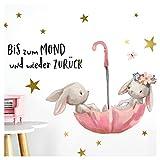Little Deco Wandtattoo Babyzimmer Hasen & Spruch Bis zum