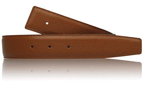 Erdi Ünver Cognac Wendegürtel in echt Leder für Herren & Damen 4 cm Breiter Gürtel in Braun (110 cm)