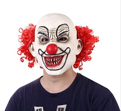 tytlmask volwassen latex maskers, eng clown kostuums masker met rode haren, mannen masker Scary rode ogen clown pennywise masker voor halloween