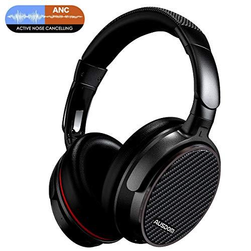 Ausdom ANC7 Bluetooth-Kopfhörer, kabelloses Over-Ear-Headset mit 20 Stunden Spielzeit, Hi-Fi-Stereo, ANC-Kopfhörer mit kraftvollem Bass, leicht und eingebautes Mikrofon
