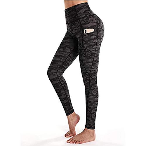 Eaylis Damen Übung Bubble Yoga Hose Leoparden-Tarngamaschen Trainingshose Athletic Pants Trainingshose Yogahose Sportleggins für Fitness hosen
