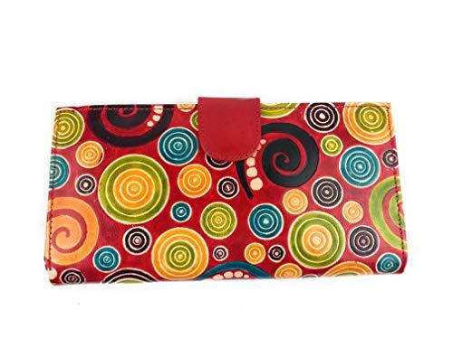 Macha Macha Checkbook Holder Wallets und Kartenhalter Ethnische Frau (Rot)