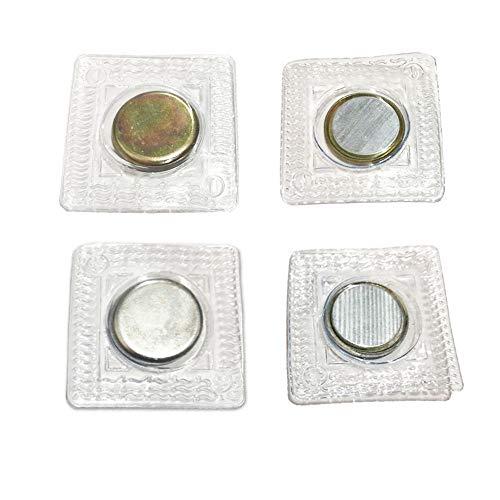Anyasen Aimant a Coudre 30 Paires Boutons Magnétiques Aimant Néodyme de Boutons Pression magnétiques à Coudre cachés Quick Change, pour Couture Habillement Sac à Main,15mm